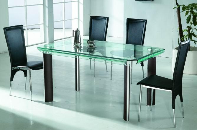 bàn kính hiện đại cho phòng ăn