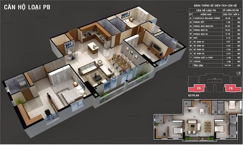 căn hộ lan Phuong PB