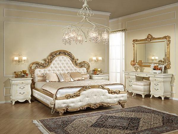 phòng ngủ phong cách châu âu cổ điển hiện đại