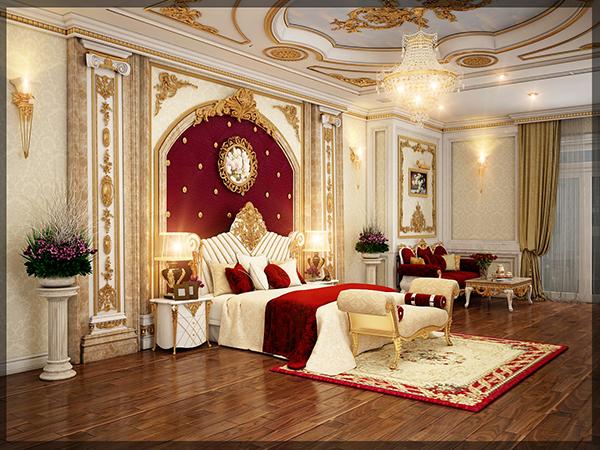 phòng ngủ châu âu cổ điển hiện đại đẹp