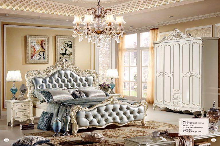 giường ngủ châu âu tân cổ điển