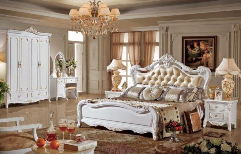 giường ngủ châu âu cổ điển mới