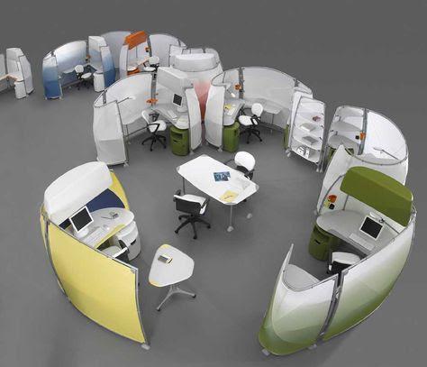 modul bàn văn phòng mở hiện đại