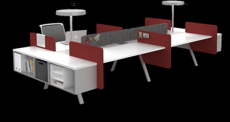 modul bàn vách ngăn văn phòng đẹp