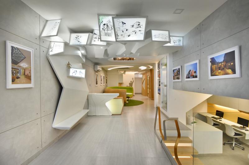 Tham khảo nội thất văn phòng Kiến trúc hiện đại Tại New Delhi Ấn Độ