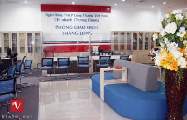 thiết kế văn phòng giao dịch ngân hàng