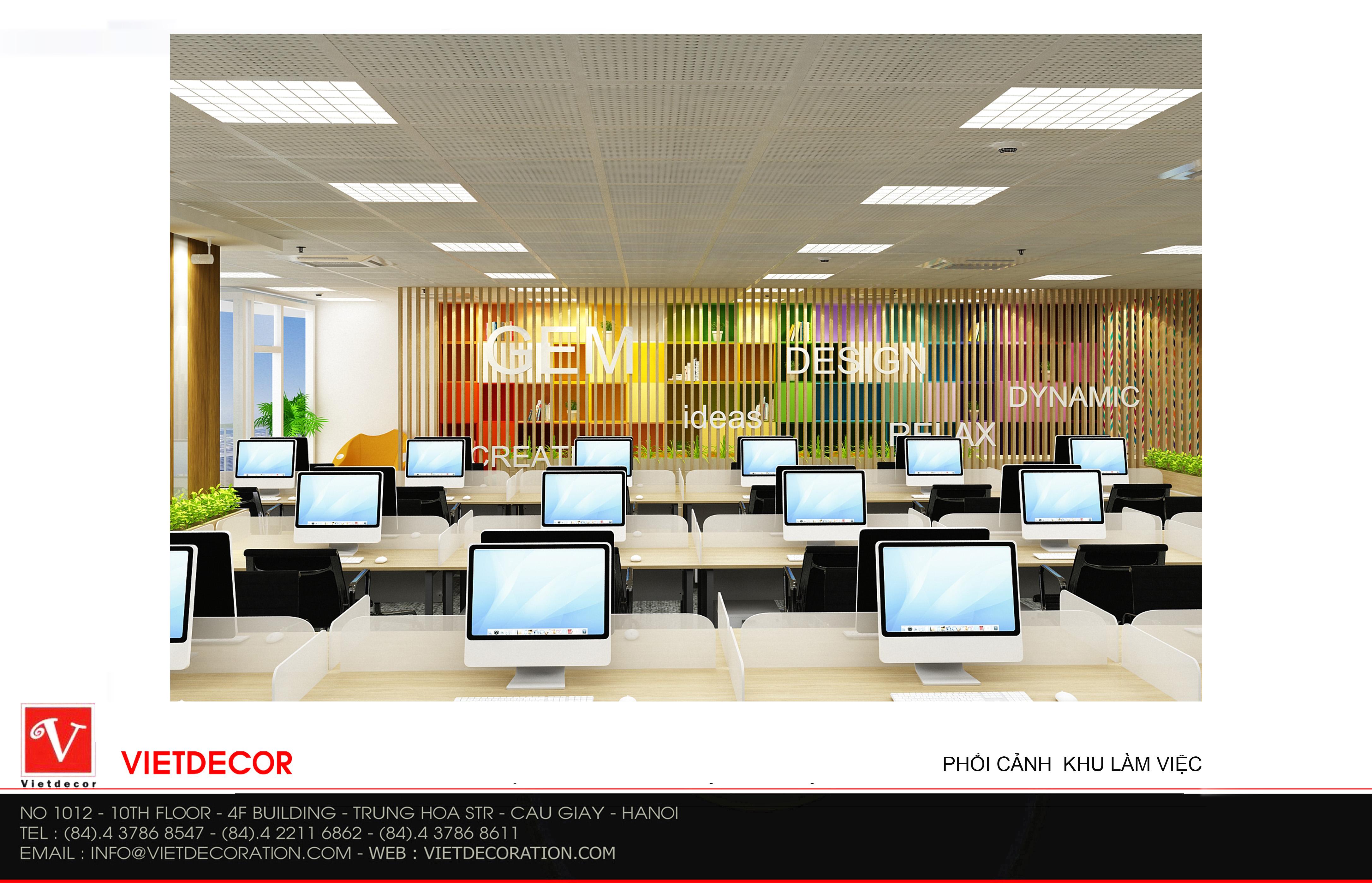 thiết kế nội thất văn phòng hà nội