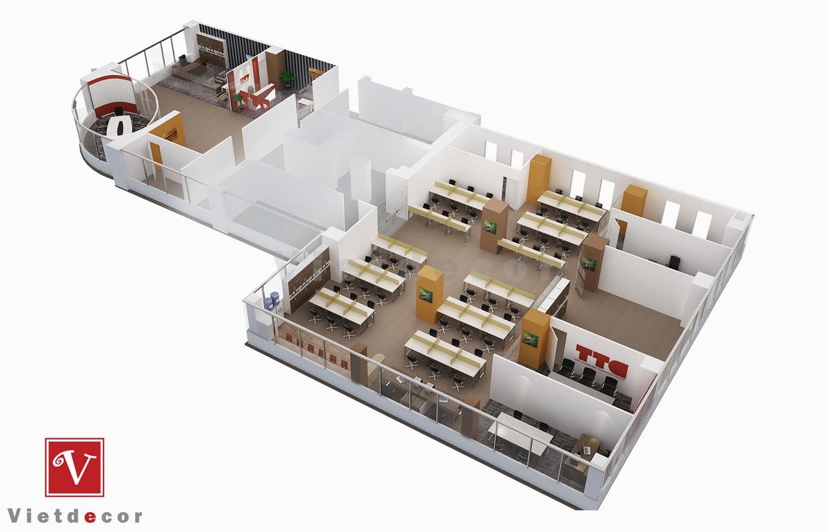 thiết kế nội thất văn phòng trọn gói