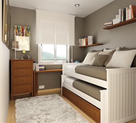 thiết kế phòng ngủ hẹp