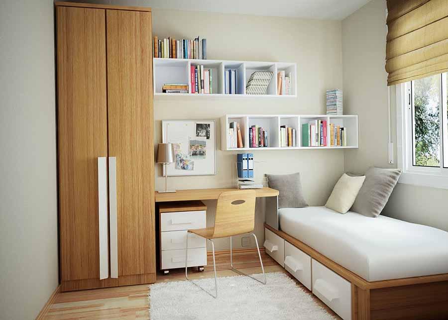 thiết kế phòng ngủ nhỏ đáng yêu