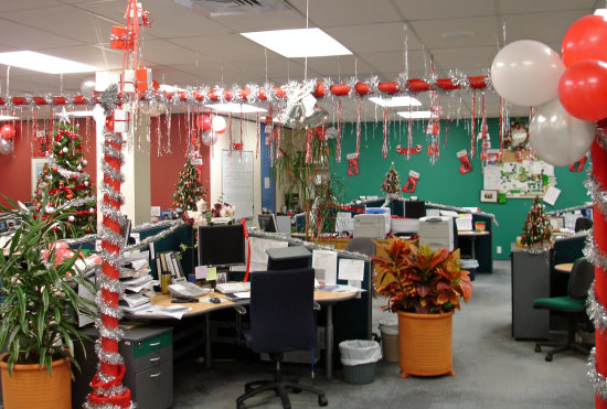 trang trí nội thất văn phòng noel 1