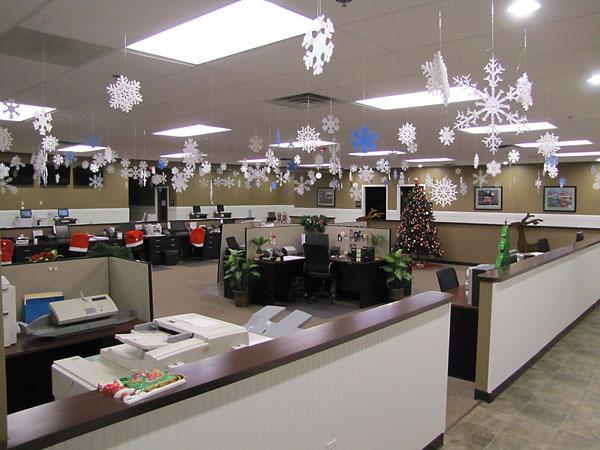 trang trí nội thất văn phòng noel 2