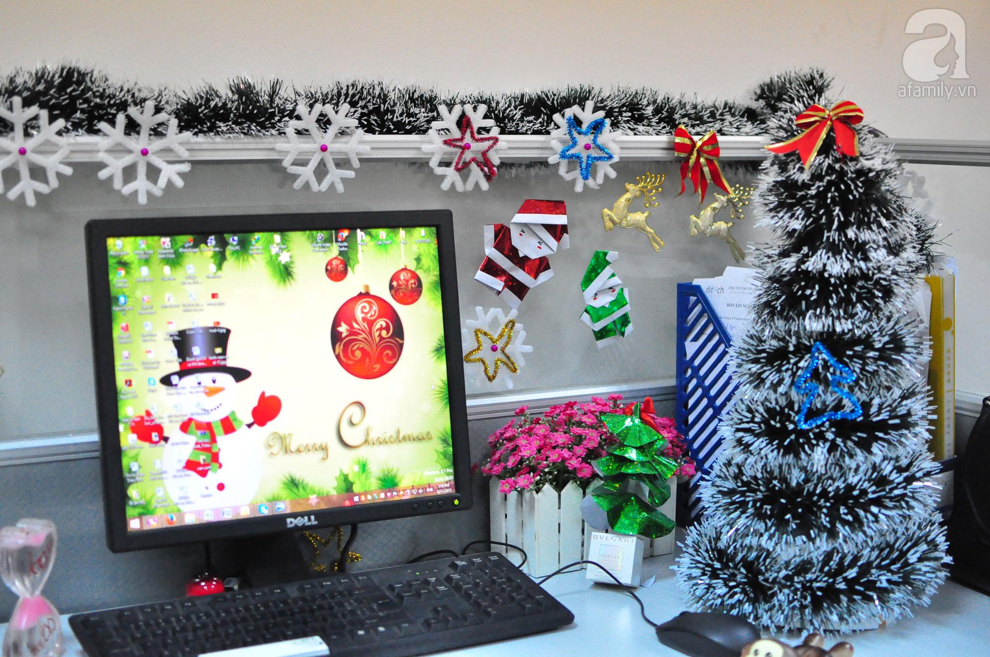 trang trí nội thất văn phòng noel 9