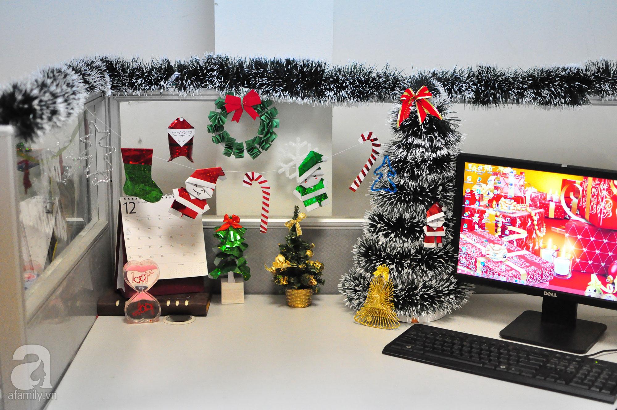 trang trí nội thất văn phòng noel 10