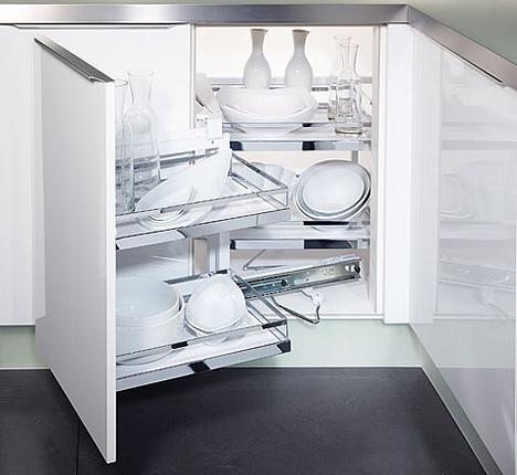 giải pháp xử lý tủ bếp góc