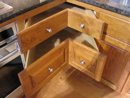 ngăn kéo tủ bếp góc