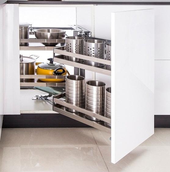 xử lý tủ bếp góc