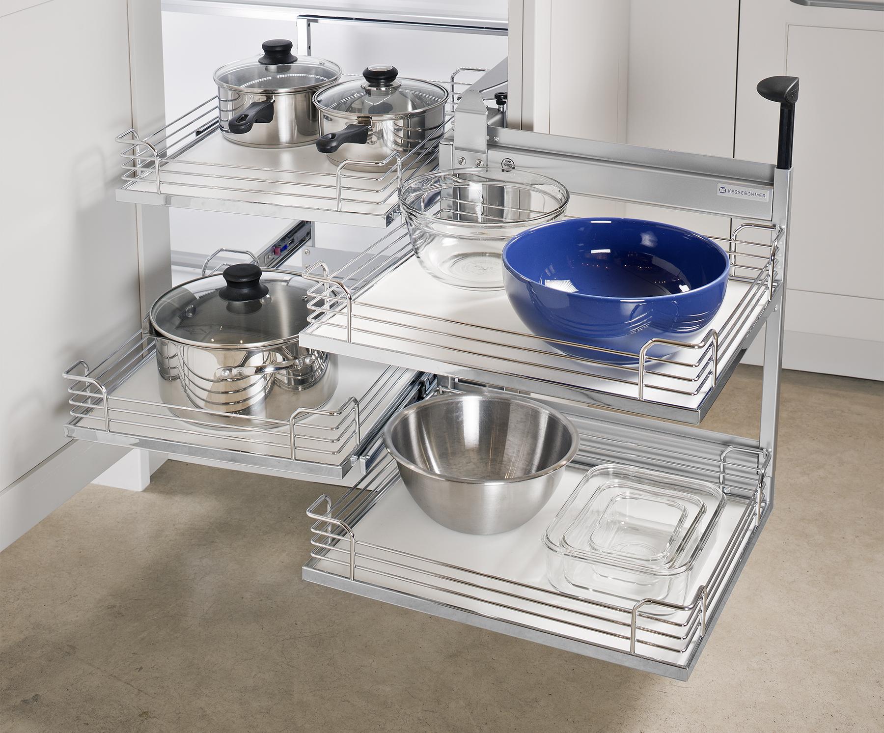 phụ kiện tủ bếp góc inox
